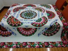 New King  size  machine pieced and quilted  Patchwork quilt / #NJ-85K