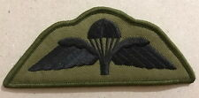 British Airborne Forces Parachute wings Olive Black Subdude New Miltary N-102