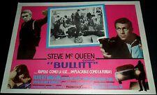 1968 Bullitt ORIGINAL MEXICAN LOBBY CARD Steve McQueen Jacqueline Bisset A