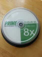 10 pack PRIME DVD+R DL Double Dual Layer Recordable 8.5GB 240M Blank Media Disc