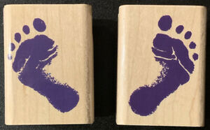 Inkadinkado Left Foot Right Foot Feet Rubber Stamps