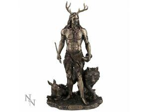 HERNE AND ANIMALS 30cm Nemesis Now God Of Hunt Mythology Celtic Bronze FREE P+P