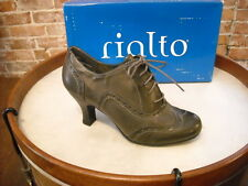 Rialto OX Burnished Grey Lace-up Wingtip Oxford Pumps 9 NEW