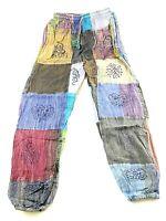 Patchwork UNISEX Cotton Trousers Hippie Boho Yoga Pant Festival Combat Nepal