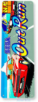 Out Run Arcade Sign, Classic Arcade Game Marquee, Game Room Tin Sign A894