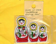 NESTING DOLL PATCH MADE IN THE USSR MATRESHKA