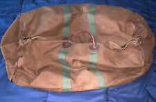 Vintage LL Bean Canvas & Leather Duffle Bag XL