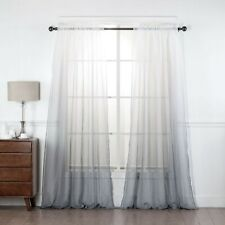 New ListingEhp 2 Piece Ombre Sheer Curtains Rod Pocket Voile, Sheer Window Treatments