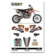 JDR/JSTAR Motocross Graphics KTM SX 65 2002-2008 Dirt Bike Graphics Decal Deco