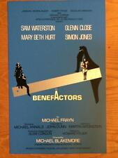 BENEFACTORS Broadway Window Card Poster GLENN CLOSE SAM WATERSTON MARY BETH HURT