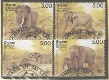 1986   SRI LANKA  -  SG  951 / 954  -  WWF  ELEPHANTS   -  USED