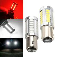 UK 1157 BAY15D Car Tail Stop Brake Light Bulbs 33 SMD LED 12V White 2PCS