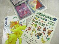 SEIKEN DENSETSU 3 PROLOGUE Guide & Card Set w/Sticker Art Fan Book 1995 NT