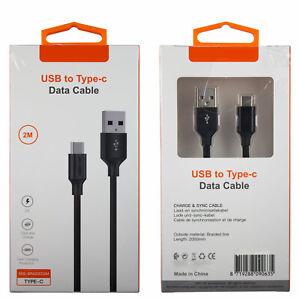 Type-C USB Kabel Ladekabel Datenkabel für Android 2m 200cm XSS-BRAIDED2M