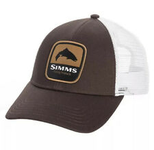 Simms Fishing Trout Patch Trucker Hat Adjustable Cap - Bark/Brown - NEW w/ Tags!
