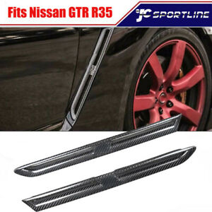 Fits Nissan GTR R35 Coupe Carbon Fiber Side Fender Vents Air Intake Decorative