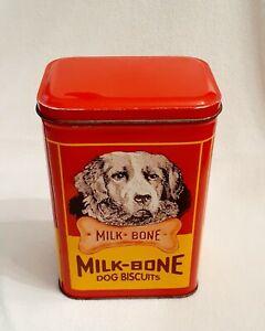"""Vintage  -  """"Milk-Bone Dog Biscuits""""  -  Tin Cannister"""