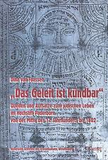 van Faassen, Geleit ist kündbar, jüdisches Leben Juden Hochstift Paderborn, 1999
