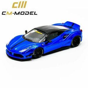 1:64 Ferrari 488 Liberty Walk -- Metallic Blue -- CM-Model