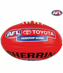 Genuine Leather Sherrin AFL Replica Match Day Training Football Size 5 Red