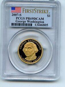 2007 S $1 George Washington Dollar PCGS PR69DCAM First Strike