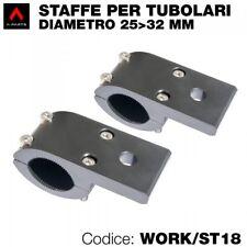 Kit 2 staffe per faretti moto per tubolari-paracilindri diametro da 25 a 32 mm