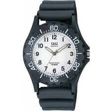 Q&Q VP02J001Y by Citizen Black Resin Number Analog White Dial Sport Watch