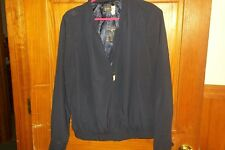 NEW Simply. Chloe Dao Size SMALL Lightweight Zip Front Jacket NAVY