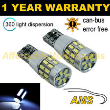 2x W5W T10 501 Errore Canbus libero White 30 SMD LED Tail Rear Light Bulbs tl102801