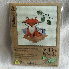 Mouseloft stitchlets CROSS STITCH KIT ~ IN THE WOODS ~ Ferdinando FOX ~ NUOVO