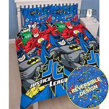 JUSTICE LEAGUE INCEPTION Set Copripiumino doppio SUPERMAN BATMAN 2 disegni in 1