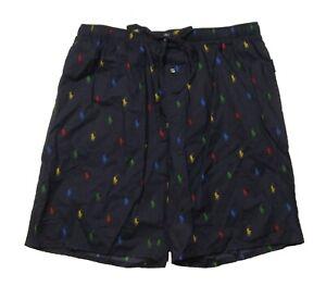 Polo Ralph Lauren Men's Navy All Over Pony Print Cotton Sleep Shorts