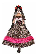 Day of the Dead Spanish Lady Skull Dia de los Muertos Adult Costume