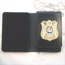 IPA Polizei Ausweismappe aus Leder mit Badge Belgien ~ PLUS 1 IPA Aufkleber
