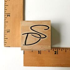 "Stamp Cabana Rubber Stamp Initials  ""DS"" - NEW"