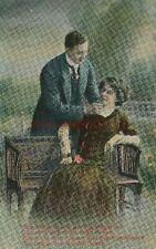 """AK, Foto, Liebessprüche  """"das Kosen lehret der Frühlingswind"""", 1915 ; 5026-77"""