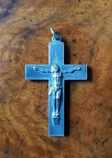 More details for antique sterling silver birmingham 1893 crucifix cross pendant by george loverid