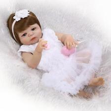 "23""Reborn Full Body Silicone Girl Baby Preemie Doll Newborn Dolls Babies Cheap"