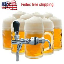 Steel Beer Faucet Tap Flow Controller Chrome Shank G5/8 Tap useful fit Kegerator