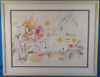 Charles Cobelle Original Acrylic Oil Painting & Mixed Media Signed Rare Artwork