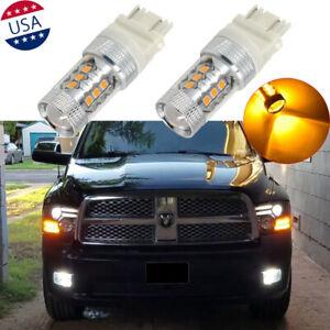 2x 16-SMD Amber LED Bulb Turn Signal Lamp & Parking Light For Ram 1500 2009-2018