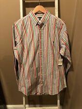 Polo Ralph Lauren L/S Multi-Color Striped Blaire Shirt Men's Sz M Pony NEW