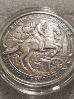 1 oz .999 Silver Antiqued Revolutionary War PATRIOT Don't Tread on Me Washington