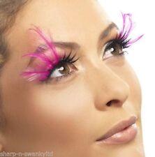 Long Pink Eyelash Extensions
