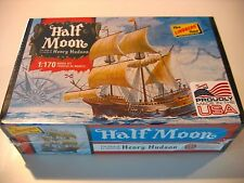 """USA made HALF MOON Hudson's Ship Model Kit 1/170 scale 7"""" Long NEW IN Sealed BOX"""