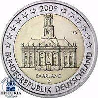 Saarland Ludwigskirche 2 Euro Deutschland 2009 bankfrisch Mzz. D
