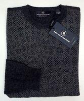NWT $295 Hart Schaffner Marx 100% Cashmere Sweater Mens M L  NEW Dark Grey NEW