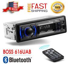 BOSS 616UAB Car Stereo Receiver Single Din Bluetooth AUX USB AM/FM Radio NEW
