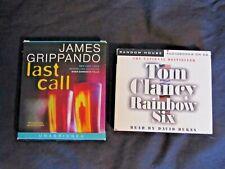 2 Audio books on CD's Last Call/Grippando / Rainbow Six/Clancy