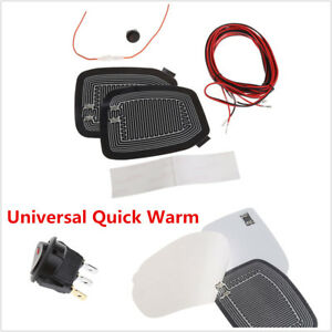 Universal Quick Self-adhesive Car Side Mirrors Heat Pads Glass Defogger Pad Mats